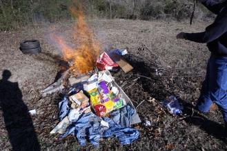 Burnin trash