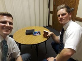 Skype teaching Landon and Nick
